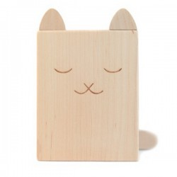 Pot à Crayons en bois Chat