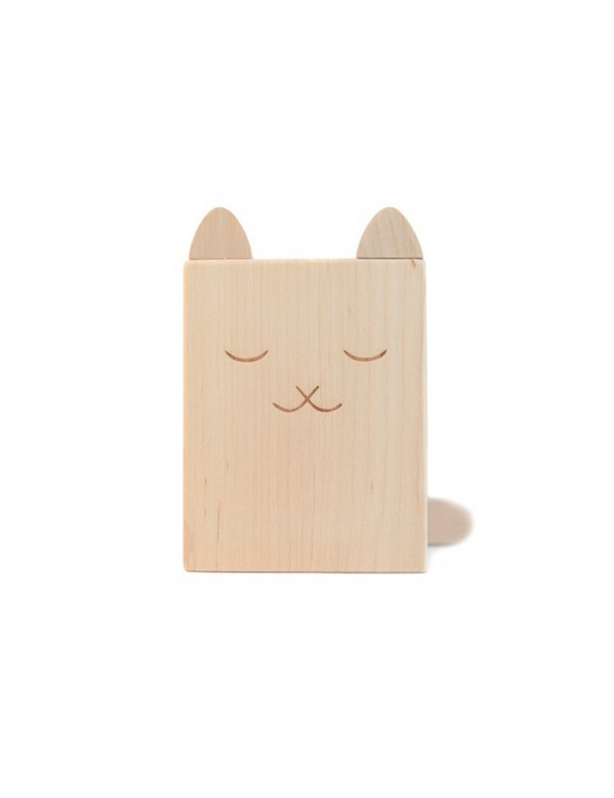 Briki Vroom Vroom Wooden Cat Pencil Pot