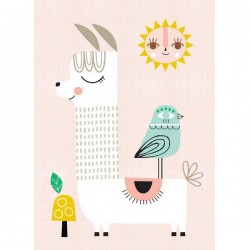 Poster Sunshine Lama by Suzy Ultman (29.7 x 42 cm)