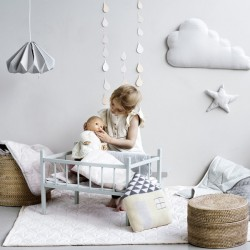 "CamCam Copenhagen - doll's bedding ""grey waves"""