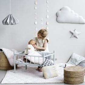 "CamCam Copenhagen - doll's bedding ""grey waves"""
