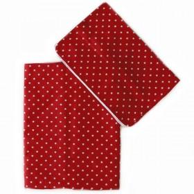 housse de couette enfant (100x150): rouge à étoiles | Nobodinoz