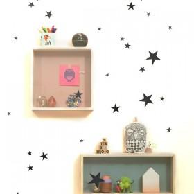FERM LIVING Mini Stars Wallsticker - black