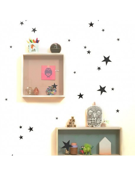 FERM LIVING Mini Stars Wallsticker - black
