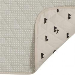 ferm living changing blanket - grey cross