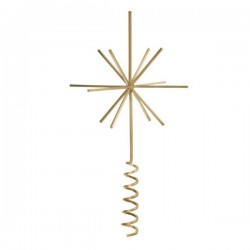 Ferm Living christmas ornament - Brass Christmas Tree Top Star