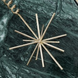 Ferm Living christmas ornament - Brass Christmas Tree Top Star