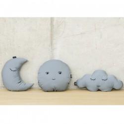 Grey Moon Cushion by Paparajote - ATOMIC SODA