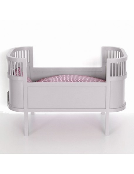Smallstuff Rosaline doll bed - grey