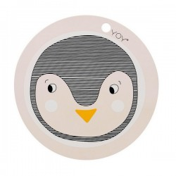 oyoy set de table design enfant pingouin en silicone