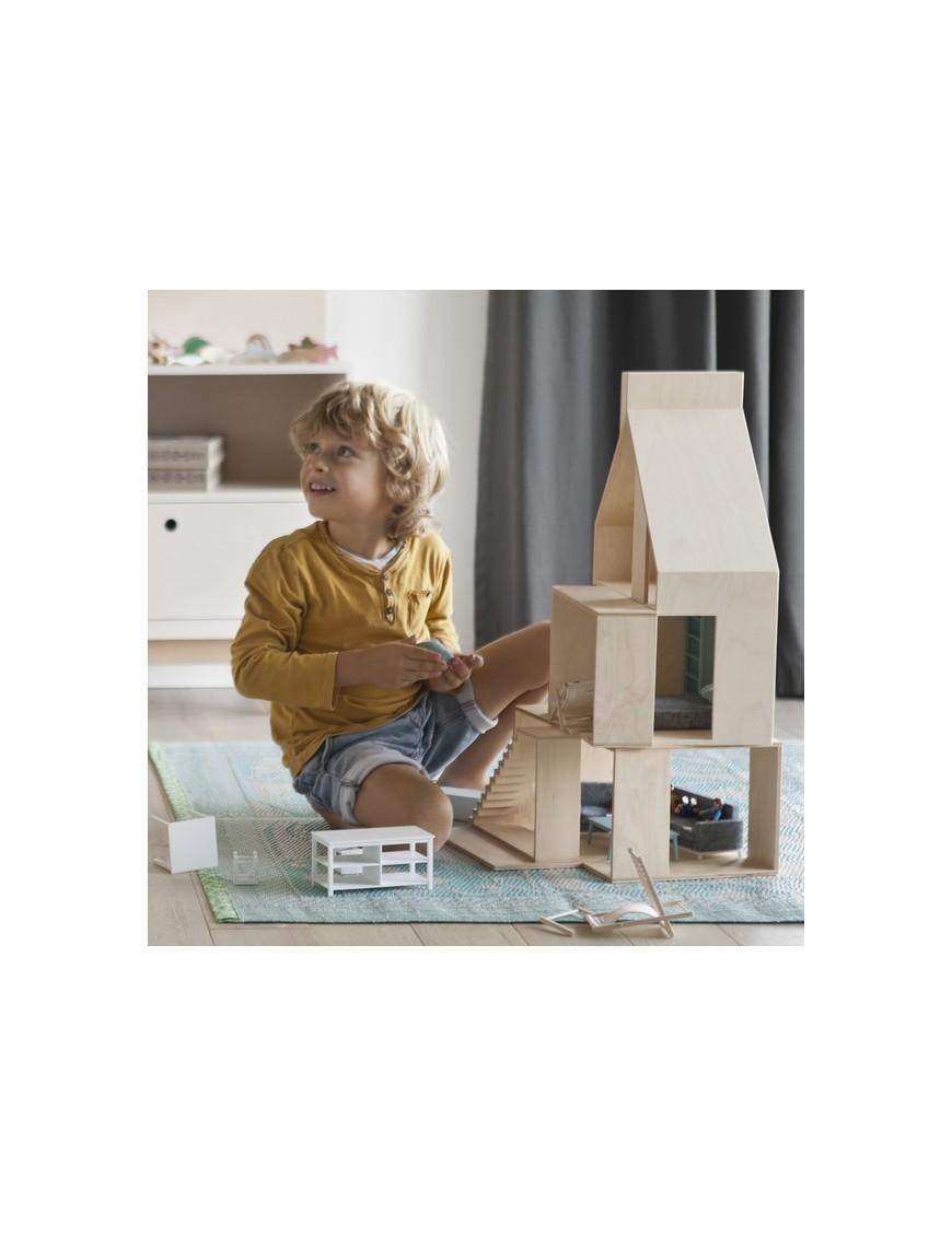 boomini modern dollhouse - mini wood