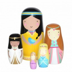 becky of sketch inc princess nesting dolls