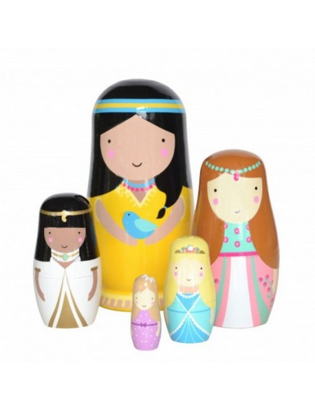becky of sketch inc princess nesting dolls