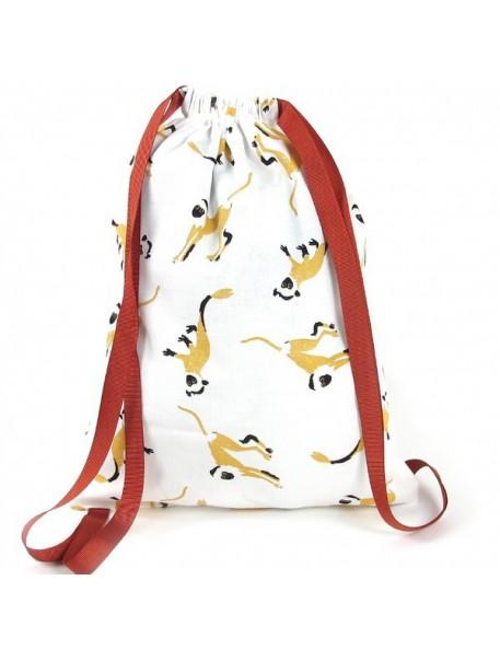 "Nobodinoz | backpack: honey monkeys ""Florencia"""