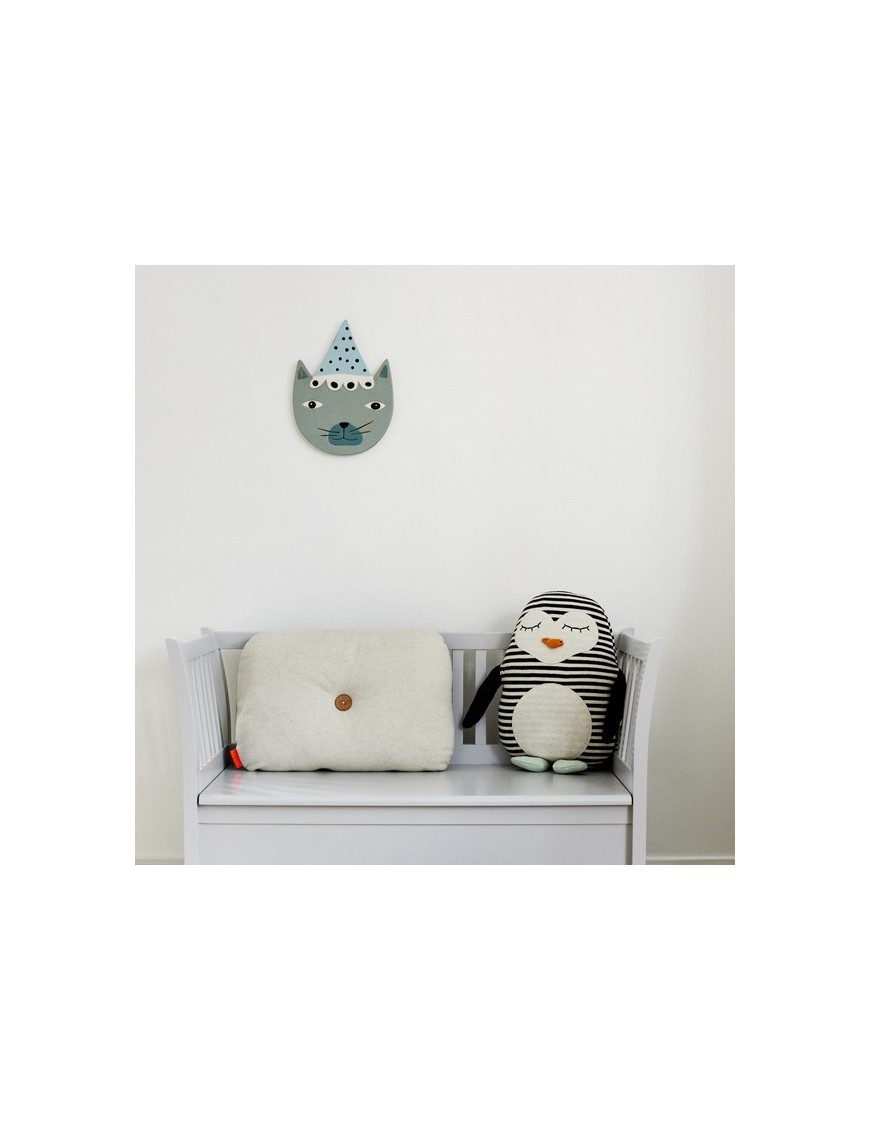 OyOy Buster Cat Ceramic Wall Decoration