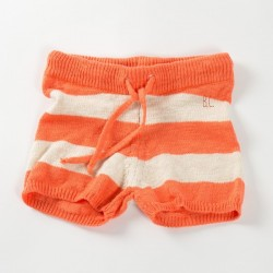 bobo choses knitted red short