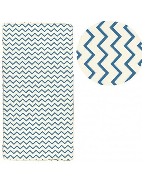 nobodinoz st tropez mattress blue zigzags