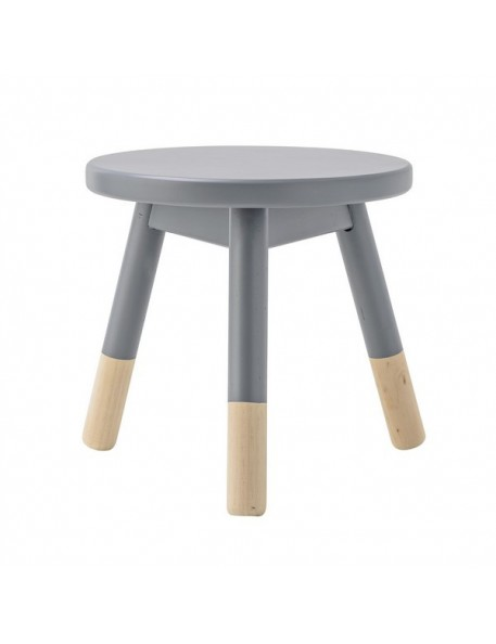 bloomingville mini wooden stool grey/nature