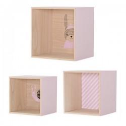 étagère murale cube en bois