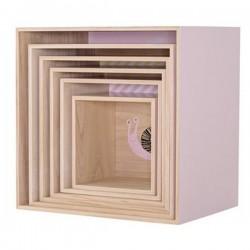 Bloomingville | étagère cube: rose (x6 pièces)
