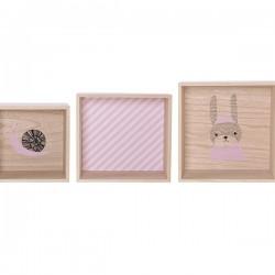 Bloomingville étagères cubes: rose (x6)