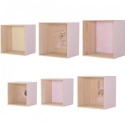 étagères cubes en bois