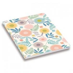MINILABO Cahier Fleurs - 108 pages à carreaux