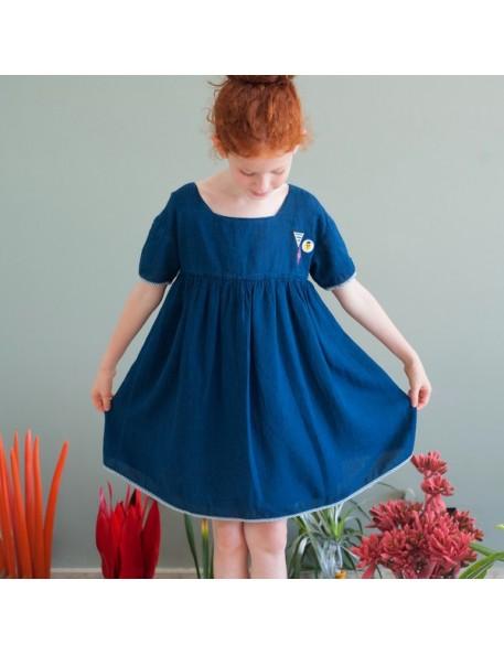 bobo choses robe princesse bleue