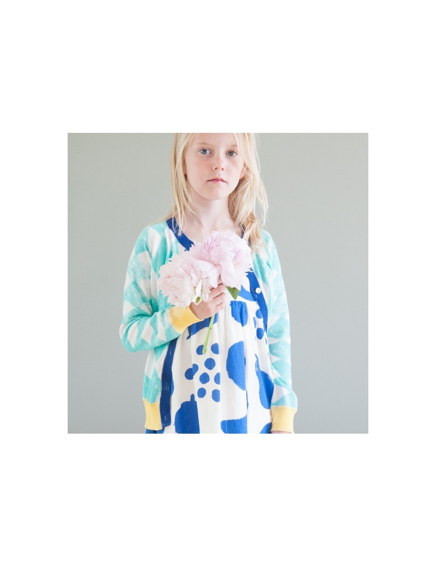 bobo choses cardigan maille diamonds