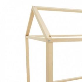 "Nobodinoz structure de lit cabane ""ibiza home"": zigzag noir"