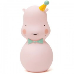 eef lillemor hippo night light pink