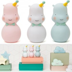 eef lillemor hippo night light pink