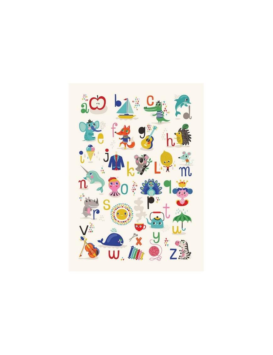 Affiche Helen Dardik Alphabet vers.uk- 50x70 cm