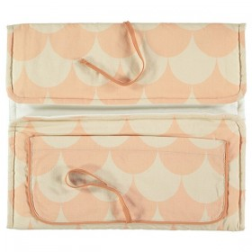 NOBODINOZ Travel Changing Pad with Pink Scales print