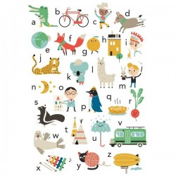 Studio Makii ABC poster in english version - 50x70 cm