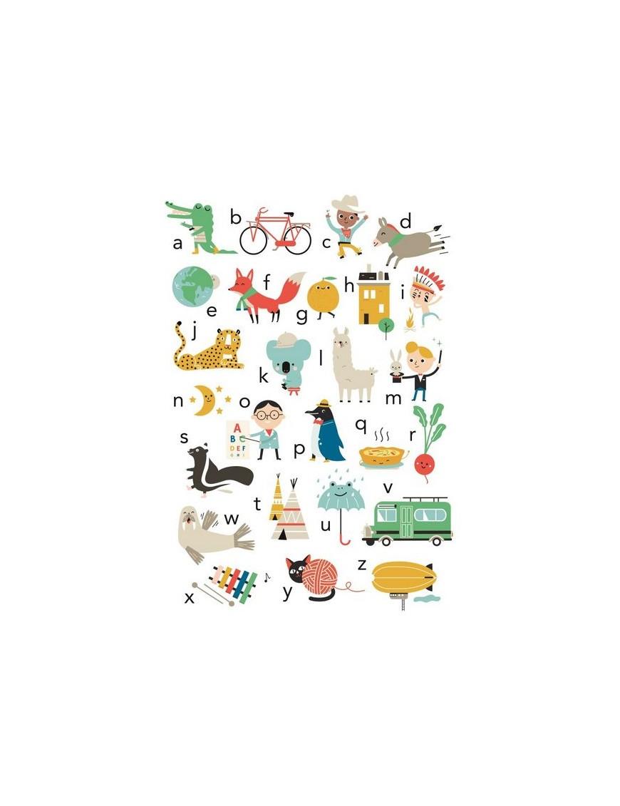 Affiche alphabet - Déco chambre bébé