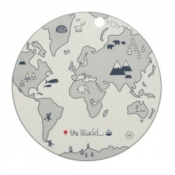Set de table design Enfant World en Silicone Oyoy