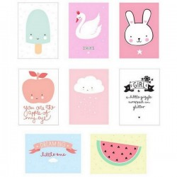 A little lovely company - poster lightbox sheet for girl (x 8)