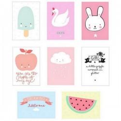 A Little Lovely Company 8 Posters Lightbox - little boy