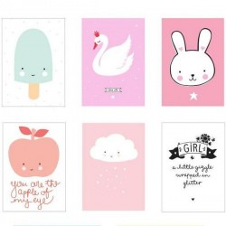 """Affiches fille pour """"lightbox"""" poster (x8)"""