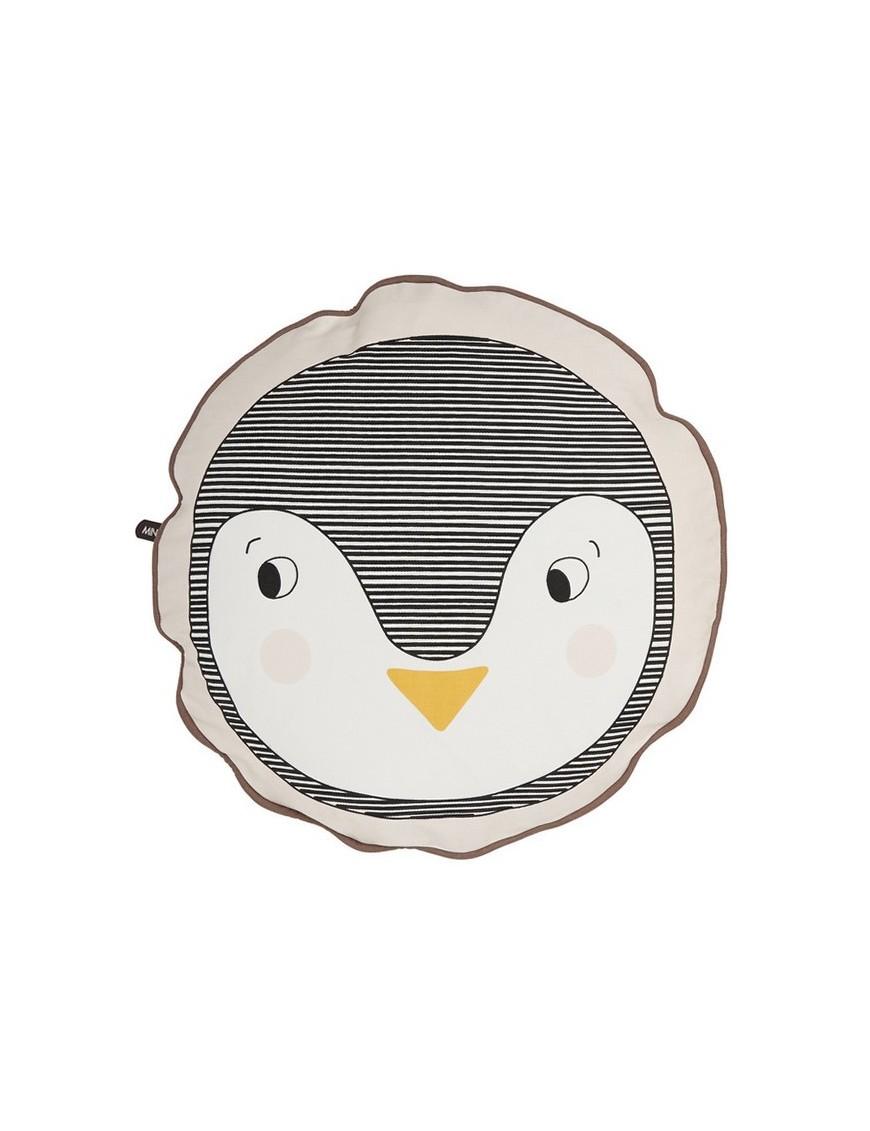 Coussin Enfant Rond Pingouin - 38 cm