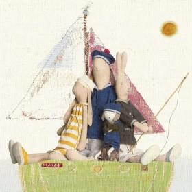 """Maileg - Habits de poupée """"Best friend"""": ensemble marin"""