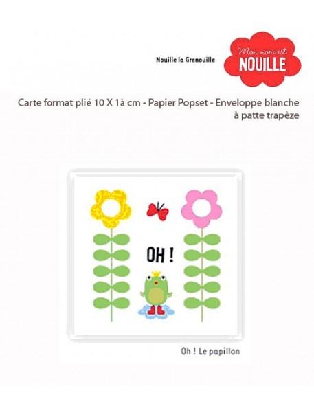 "Carte Nouille la grenouille ""Oh le papillon"", Fifi Mandirac"