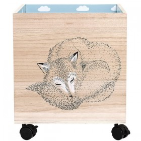 bloomingville storage box with wheels nature/winter (set of 2)