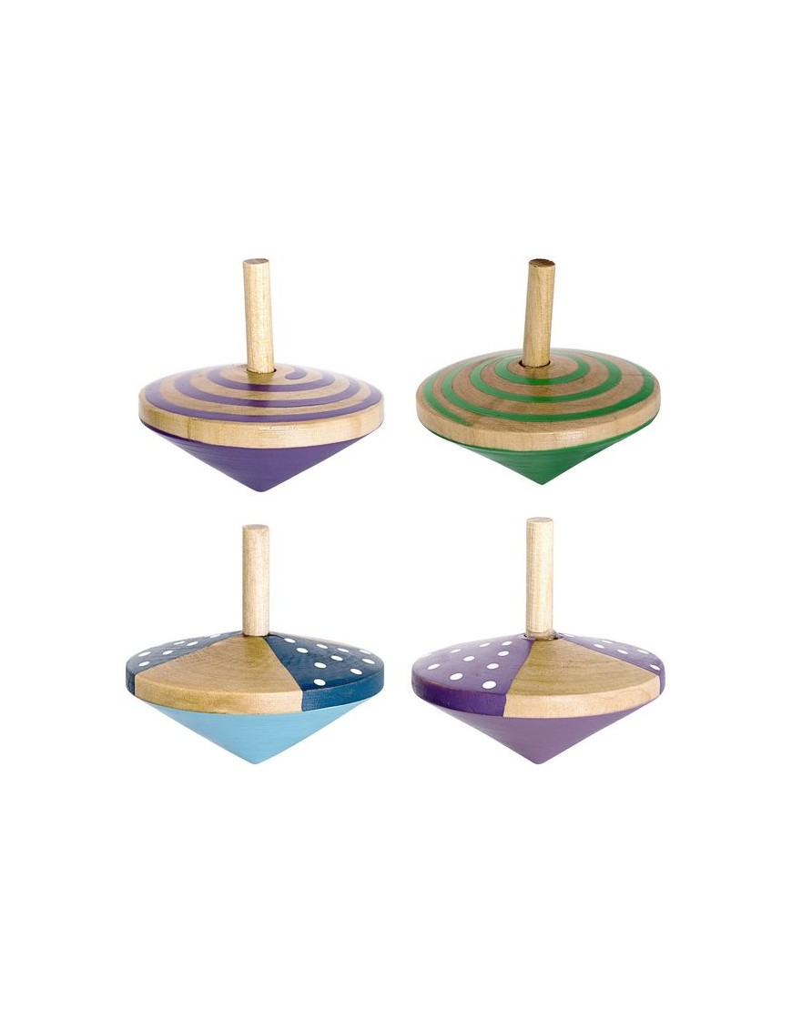bloomingville wooden spinning top