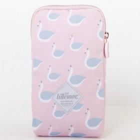 eef lillemor pink pencil case swan