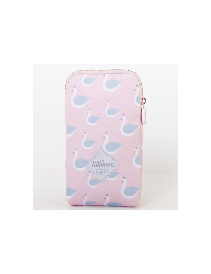 eef lillemor pink pencil case swan
