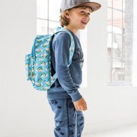 Petit Monkey sac à dos bleu avion