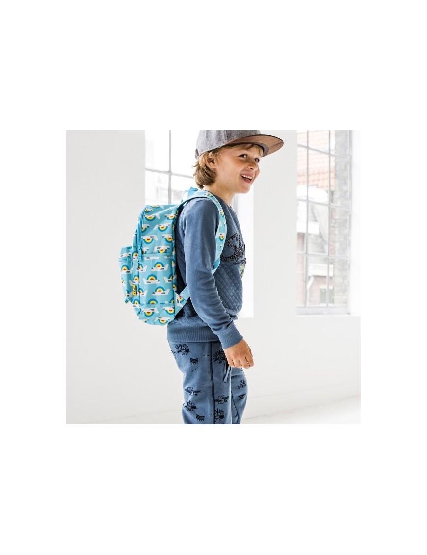 """Petit Monkey - sac à dos bleu """"avion"""" (33x28x10)"""