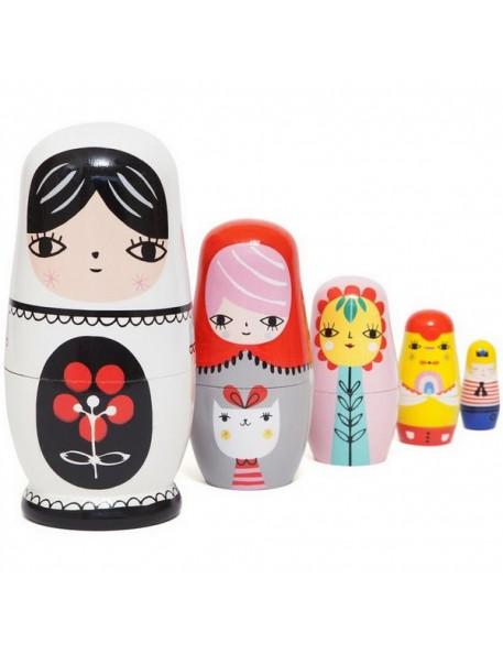 poupées russes fleur & friends - psikhouvanjou